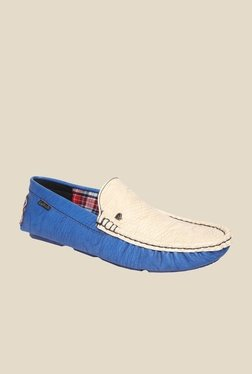 DaMochi Cannon Royal Blue & Beige Loafers