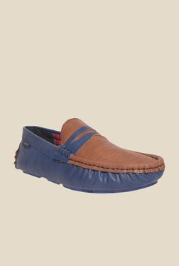 DaMochi Quintin Brown & Navy Loafers