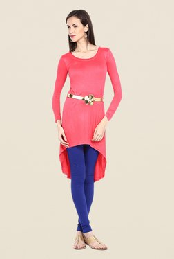 Ira Soleil Pink Solid Tunic