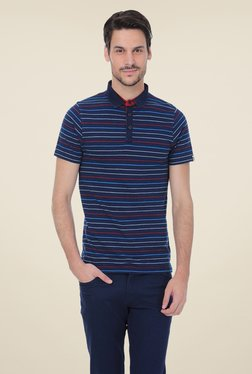 Basics Navy Cotton Polo T-shirt