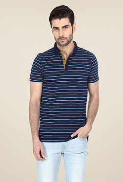 Basics Navy Striped Polo T-shirt
