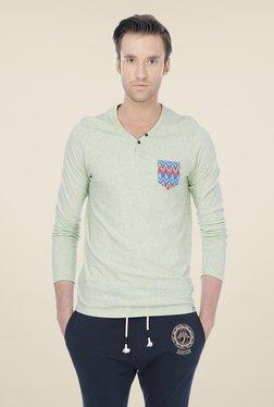 Basics Green Solid T-shirt