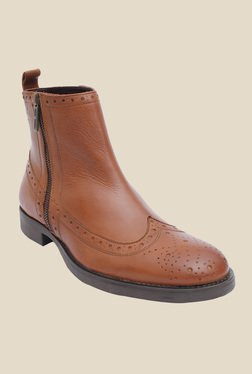 Salt 'n' Pepper Ray Almond Brogue Boots