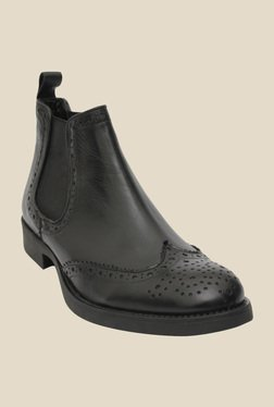 Salt 'n' Pepper Ray Black Chelsea Boots