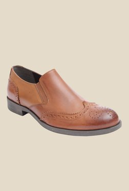 Salt 'n' Pepper Old Monk Almond Brogue Shoes
