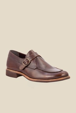 Salt 'n' Pepper Mix Cognac Monk Shoes