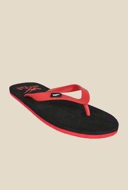 Wega Life Delight Red & Black Flip Flops