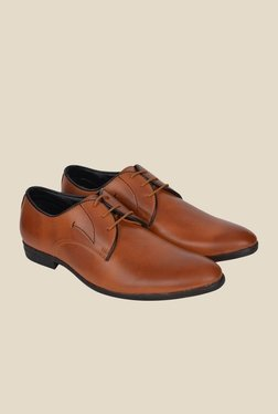 DaMochi Nata Tan Derby Shoes