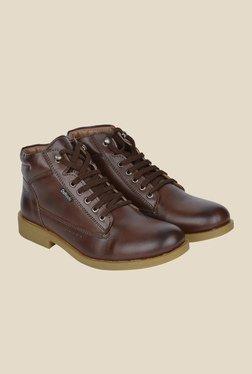 DaMochi Milo Brown Biker Boots