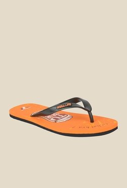 Wega Life Beer Black & Orange Flip Flops