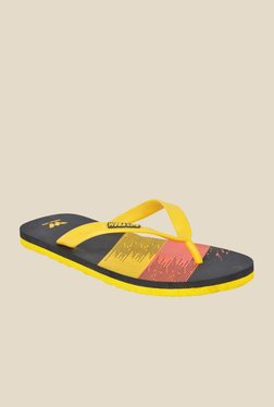 Wega Life Flag Yellow & Black Flip Flops