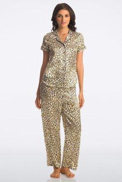 Pretty Secrets White Animal Print All Day Lounge Pyjama Sets