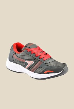 Provogue Grey & Red Running Shoes