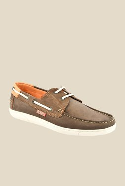 Lee Cooper Brown Boat Shoes
