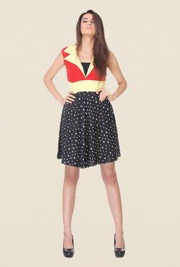 Kaaryah Black & Red Printed Dress