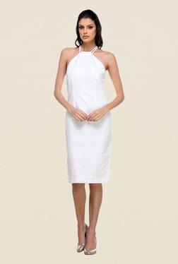 Kaaryah White Halter Neck Dress
