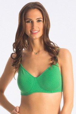 PrettySecrets Pine Green Snug Fit Wireless Bra