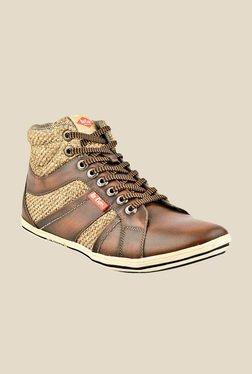 Lee Cooper Brown & Beige Casual Boots