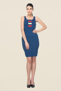 Kaaryah Navy Sleeveless Dress