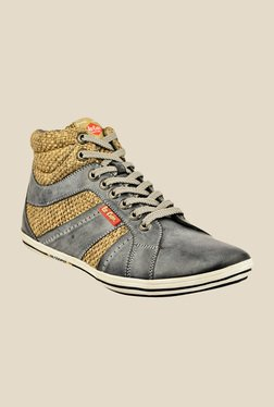 Lee Cooper Grey & Beige Casual Boots