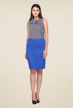 Kaaryah Blue Pencil Skirt
