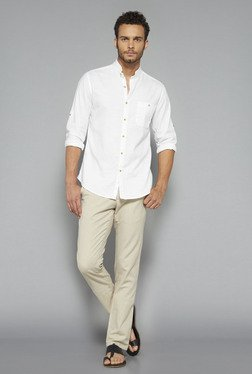 ETA by Westside White Solid Shirt