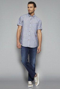 Westsport By Westside Blue Striped Shirt