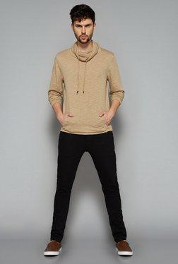 Nuon Men By Westside Beige Solid Sweatshirt
