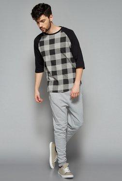Nuon Men By Westside Grey Checks T Shirt