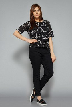 Sassy Soda by Westside Black Printed T Shirt