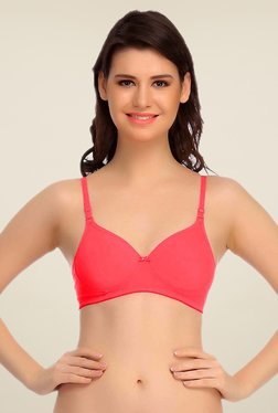 Clovia Coral Padded T Shirt Bra With Detachable Straps - Mp000000000360612