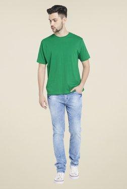 Globus Green Round Neck Cotton T Shirt