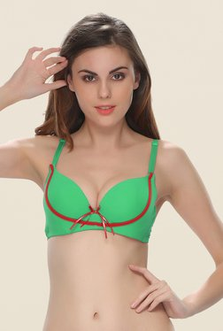 Clovia Green Push Up Convertible Bra