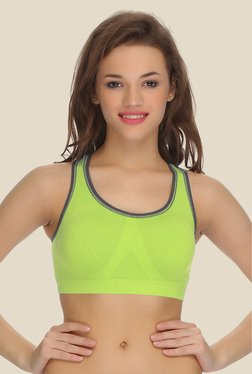 Clovia Green Racerback Padded Sports Bra