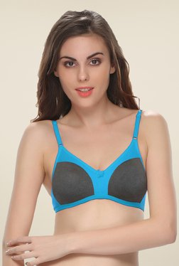 Clovia Blue Grey T Shirt Bra
