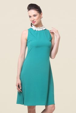 Kaaryah Teal Green Sleeveless Dress