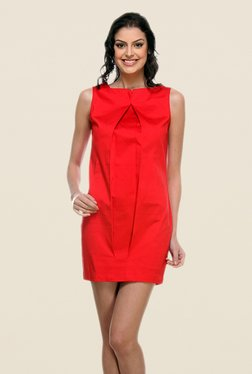Kaaryah Red Mini Sleeveless Dress