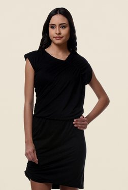 Kaaryah Black Asymmetrical Dress