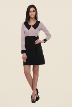 Kaaryah Lavender & Black Solid Dress