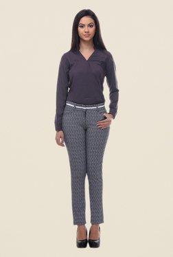Kaaryah Navy Printed Trouser