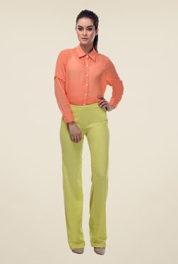 Kaaryah Yellow Solid Trouser