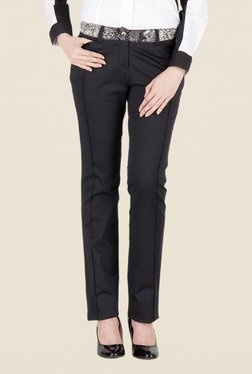 Kaaryah Black Solid Trouser