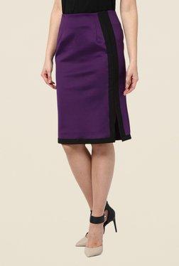 Kaaryah Purple Pencil Skirt