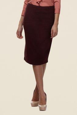 Kaaryah Maroon Pencil Skirt