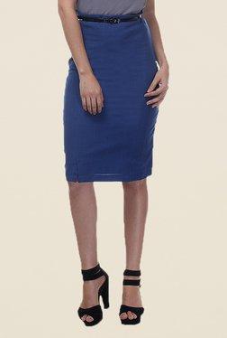Kaaryah Blue Pencil Skirt - Mp000000000363080