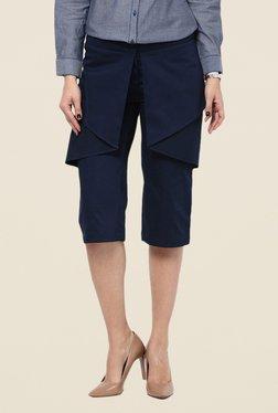Kaaryah Navy Layered & Flared Divided Skirt