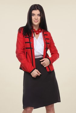 Kaaryah Red Full Sleeves Jacket