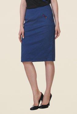 Kaaryah Navy Pencil Skirt - Mp000000000363241