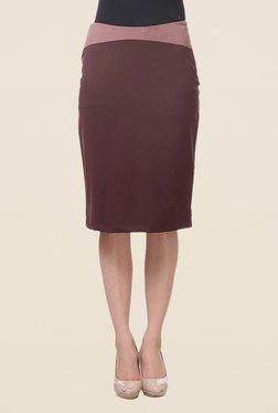 Kaaryah Maroon Pencil Skirt - Mp000000000363238