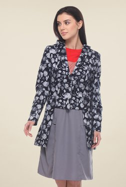Kaaryah Navy Printed Jacket